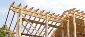 дървен покрив